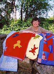 Ruth and her quilts